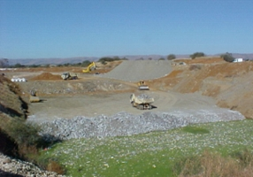 Construction of a Bottom Layer for a Landfill Site