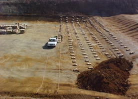 Bentonite Clay Layer Installation at a Landfill Site